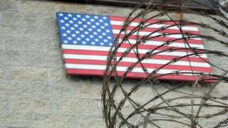 US flag at the US Naval Base in Guantanamo Bay, Cuba