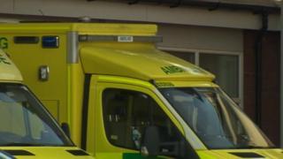 Ambulances at Wrexham Maelor Hospital