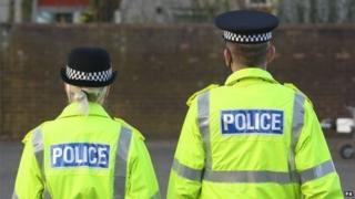 police officers in high viz jackets