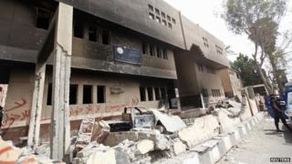 Supporters of former Egyptian president Mohamed Morsi burned a police station in Kerdasa,