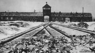 The train tracks that took prisoners into the Nazi camp at Auschwitz