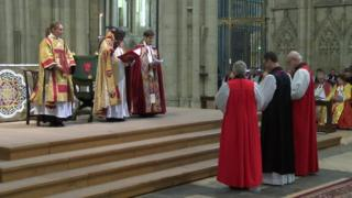 The ordination service for the Bishop of Burnley