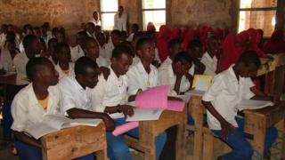Students at a primary school in Mandera, Kenya