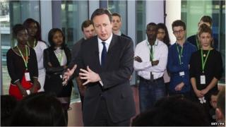 David Cameron at Sky News event