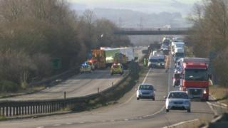 Fatal crash on A34
