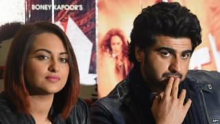 "Sonakshi Sinha (left) and Arjun Kapoor were present at the AIB's ""roast show"""