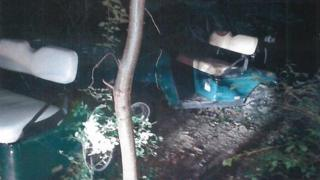 Dumped golf buggies at Canons Brook Golf Club