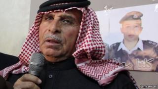 Safi Youssef Al-Kasasbeh - father of Maaz al-Kassasbeh - at a press conference