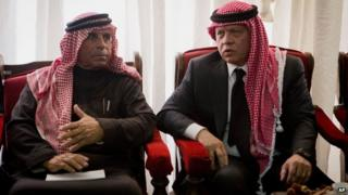 King Abdullah and Safi al-Kasasbeh