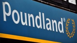 Poundland sign