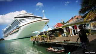 cruise ship in Antigua
