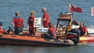 Lifeboat protest