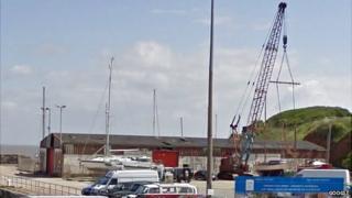 East Wharf cargo shed