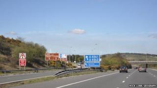 Junction 36 of the M4 at Sarn