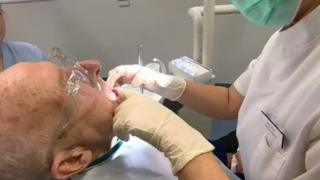 man having dental appointment