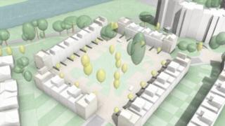 Image of Taylor Wimpey development for BBC Wales site in Cardiff