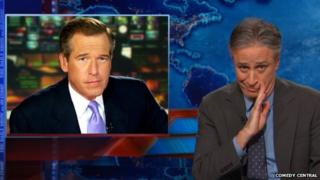 Jon Stewart addresses the Brian Williams scandal on his show on 9 February 2015