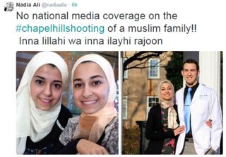 """""""No national media coverage"""" says tweet, showing pictures of shooting victims"""