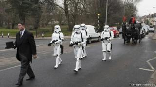 Storm troopers at funeral
