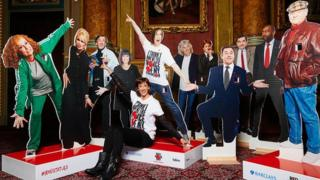The Comic Relief statues of comedians