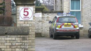 Police outside Sowerby House care home in Thirsk