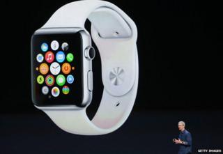 Tim Cook unveils the Apple Watch, October 2014