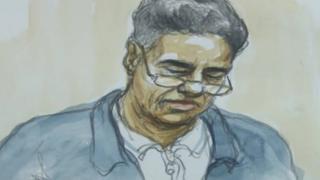 Artist's impression of Mohammed Ashrafi in court