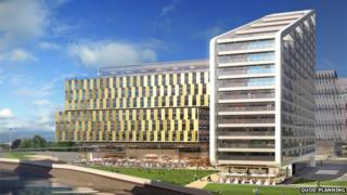 Artist's impression of the Yorkshire Post site