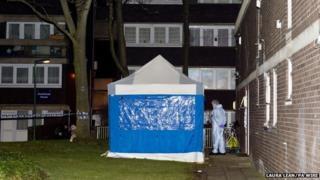 Police at Landor House
