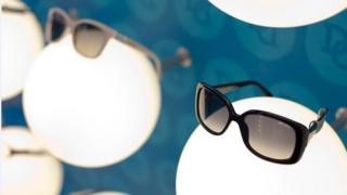 Spectacle frames in store