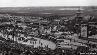Finishing Straight and Paddock at the Ford Gymkhana 1939
