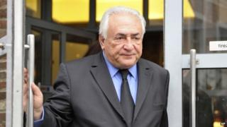 Former International Monetary Fund chief Dominique Strauss-Kahn leaves his hotel as he goes on trial for sex charges at a court in Lille, northern France (16 February 2015)