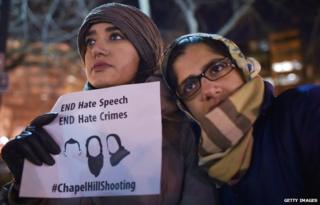 Picture of vigil at Chapel Hill