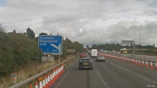 M5 motorway at Droitwich