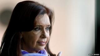 Cristina Fernandez de Kirchner in Brasilia on 16 July 2014