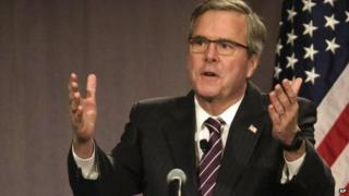 Former Florida Governor Jeb Bush speaks to the Chicago Council on Global Affairs, 18 February 2015