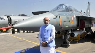 Mr Modi wants India to become a defence manufacturing hub