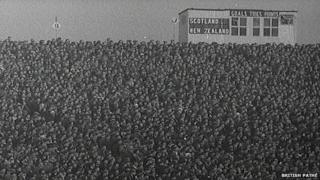 A shot of the crowd at the 1964 Murrayfield match