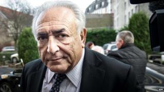 Former IMF chief Dominique Strauss-Kahn arrives to his hotel in Lille on 17 February