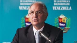 Caracas Mayor Antonio Ledezma
