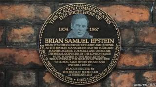 Brian Epstein's plaque
