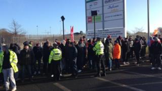 Protestors in Wilton