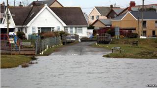Crofty sea flooding