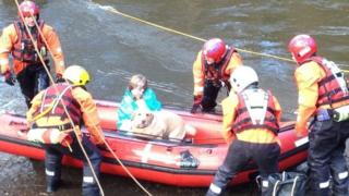 Greater Manchester Fire Service river rescue