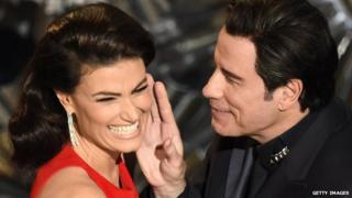 John Travolta and Idina Menzel