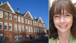 St Helen's Primary School, Ipswich with head teacher Clare Flintoff