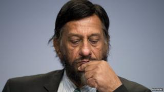 Rajendra Pachauri at IPCC meeting in Berlin on 13 April 2014