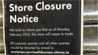 Dunnes closure notice