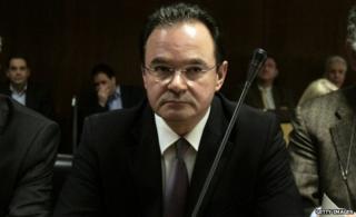 George Papaconstantinou in court (25 Feb)
