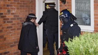 Drugs raids in Liverpool